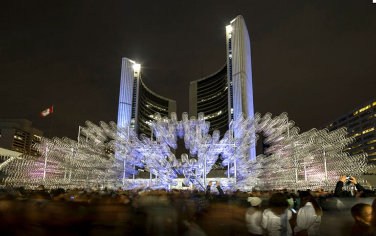 Bikes, Nuit Blanche, Nathan Philips Square, Toronto / Ai WeiWei
