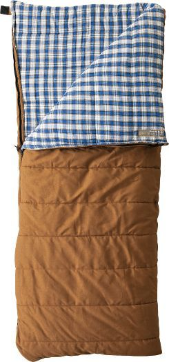 Cabela's Mountain Trapper Rectangle Sleeping Bag -- for a fall camping trip in the mountains