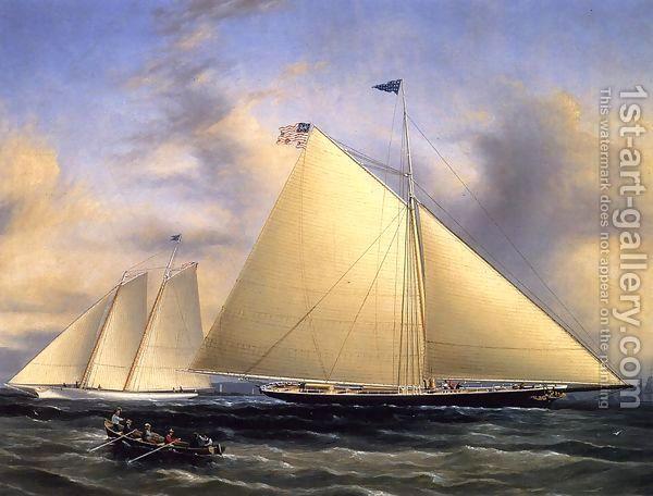 James E. Buttersworth:The Sloop 'Maria' Racing the Schooner Yacht 'America