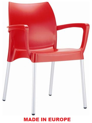 Cafe Chairs - Red Dolce Chair - #Restaurant #Chairs #OutdoorChairs #Indoor Chairs http://www.hoskit.com.au/Furniture/Restaurant-Chair/Dolce-Chair/