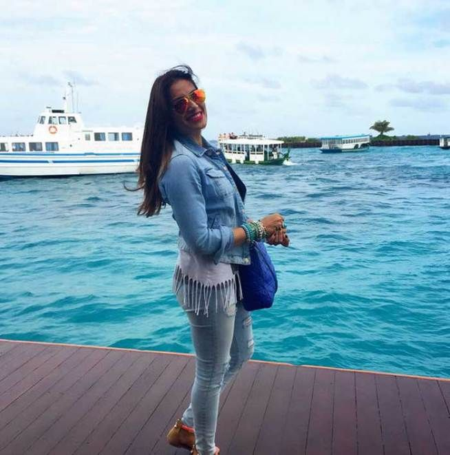 Bipasha Basu posing in Maldives. #Bollywood #Fashion #Style #Beauty #Holiday