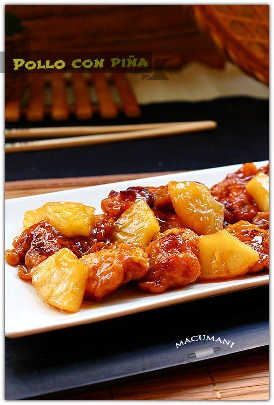 POLLO CON PIÑA ( estilo chino )