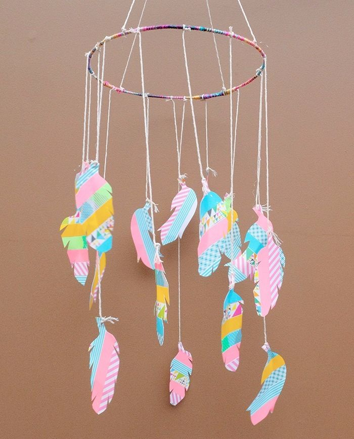 DIY : Feather Mobile | kitty manu