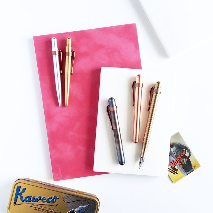 NOTEKA / Kaweco Liliput / Midori Notebook / Stationery / Kaweco Clip / Design / Pióro wieczne / Fountain Pen / Retro