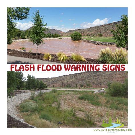 Flash flood warning signs \ St. George, UT \ #desertlife