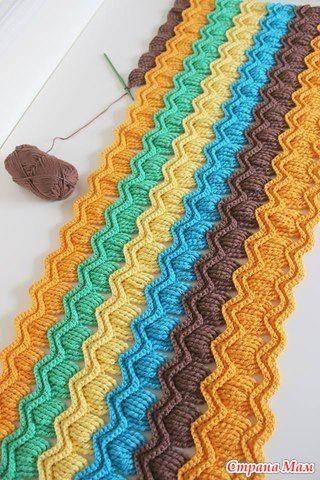 Вот такой материал был изначально:  Это сам узор, который можно использовать для пледа, шарфика, кофточек. Такая схема прилагалась для этого узора, но она немного неточная (не доработана)