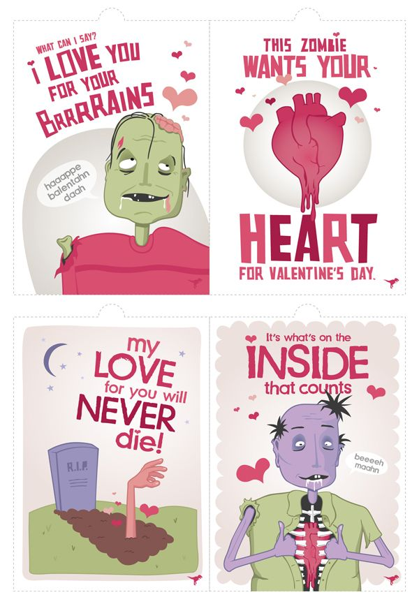 14 best images about PVZ valentine – Zombie Valentines Cards