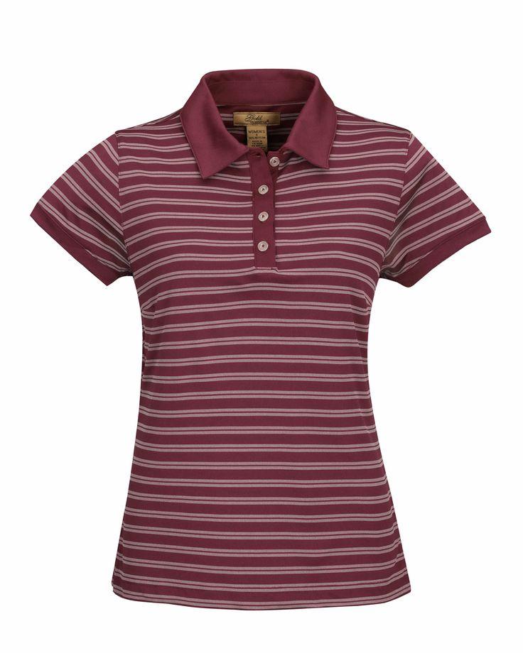 Women's Knit Polo Shirts (100% Polyester). Tri mountain 416