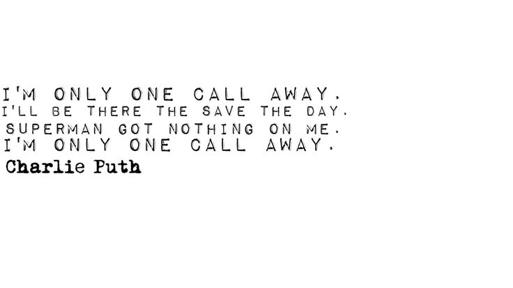 Charlie Puth. One call away. Music