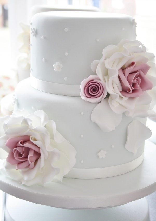 Two-Tier Rose Cake by Sophia's Cake Boutique on CakeCentral.com