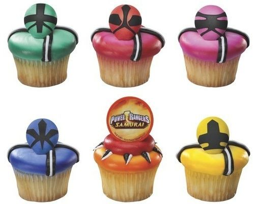 power rangers samurai cupcake topper @Julie Hanks I know a little girl who would love these!