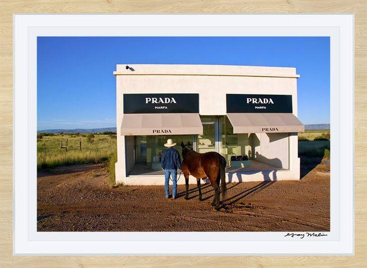 Cowboy And Mule Prada Marfa Gray Malin