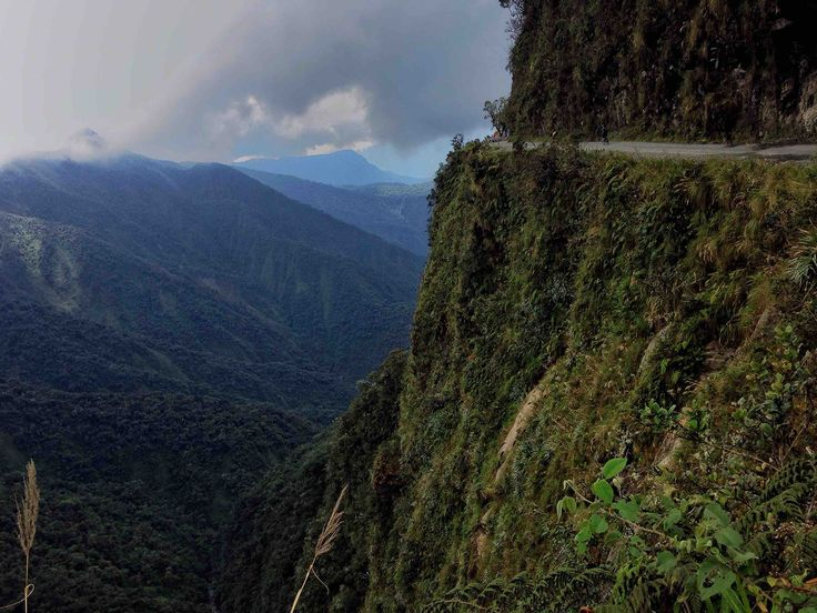 The North Yungas Road (also known as Grove's Road, Coroico Road, Camino a Los Yungas, Death Road, Road of death or Road of fate) is a road leading from La Paz to Coroico, 56 kilometres (35 mi) northeast of La Paz in the Yungas region of Bolivia.   #backpacking #Bolivia #coroico #deathroad #Green #Lapaz #Travel #world