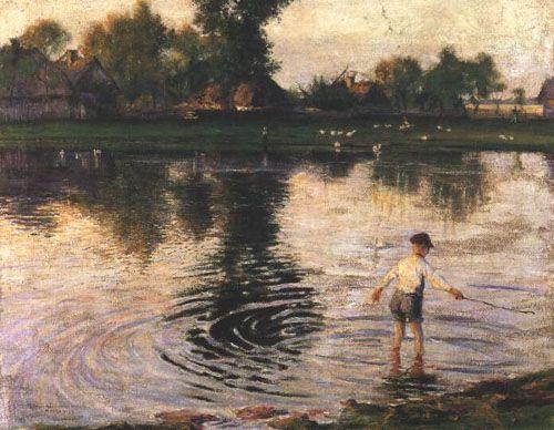 Wet Village -  Wladyslaw Podkowinski  1892