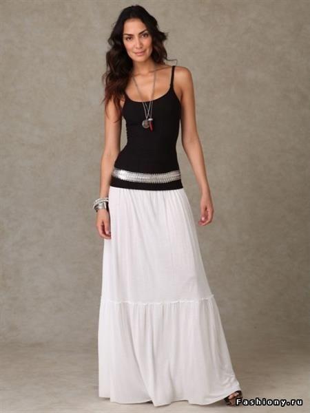 Длинная белая юбка купить