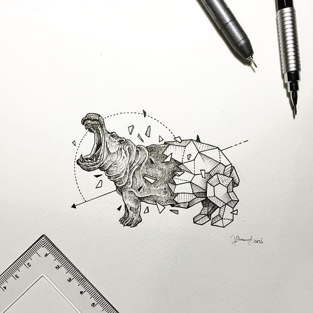 Geometric Beasts | Hippo