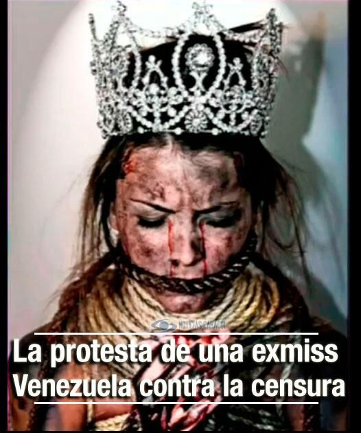 Exmiss Venezuela posó amordazada  Stefanía Fernández y Danniel Bracci lanzaron una campaña fotográfica que busca luchar contra todas las formas de censura en el país vecino.  http://www.noticiascaracol.com/entretenimiento/video-319800-exmiss-venezuela-poso-amordazada