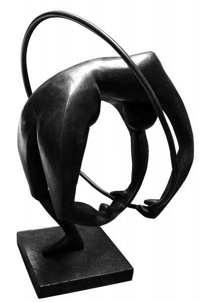 Alfredo Ceschiatti, Contorcionista - Escultura em Bronze, - med. H 63 x L 58 x P 58 cm (com selo
