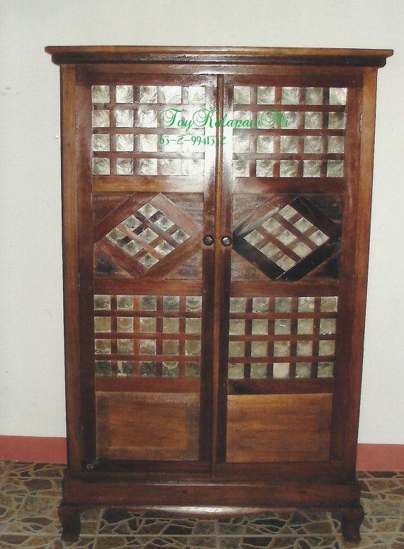 Salvaged capiz window shoe storage dream home decor for Capiz window