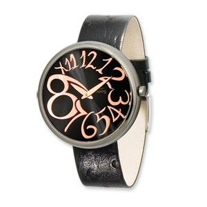 Moog Stainless Steel Round Black Dial Watch w/(AV-17) Black Band - SalmaWatches.com $209.95