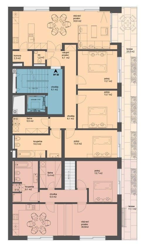 Gallery of Block of Flats / Znameni Ctyr Architekti - 17