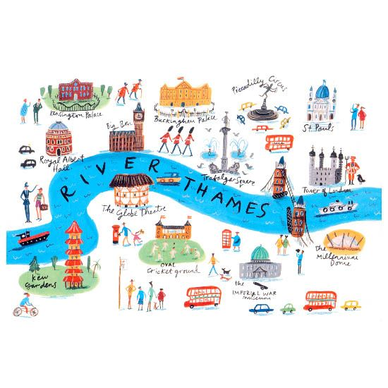 Rebecca Gibbon - Map of London - Double click on the photo to Design Sell a #travel guide to #London www.guidora.com