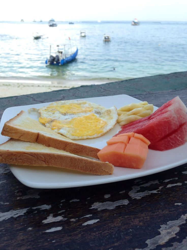 Breakfast at Lembongan Island, Bali, Indonesia