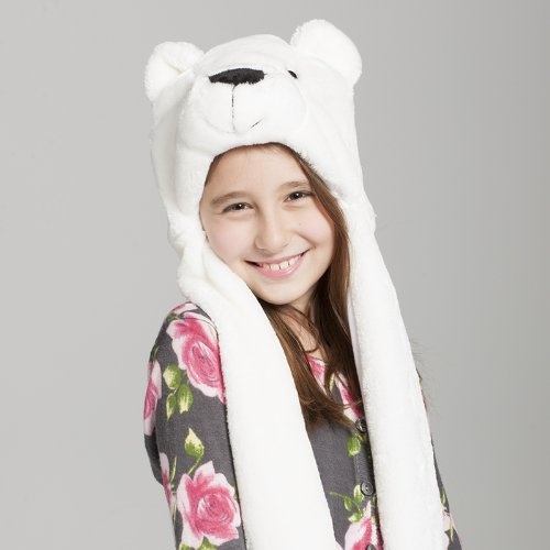 Plush Animal Hat Polar Bear ski Hood Polyester « Clothing Impulse