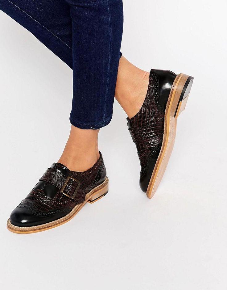 ASOS | ASOS MAJESTY Leather Flat Shoes at ASOS