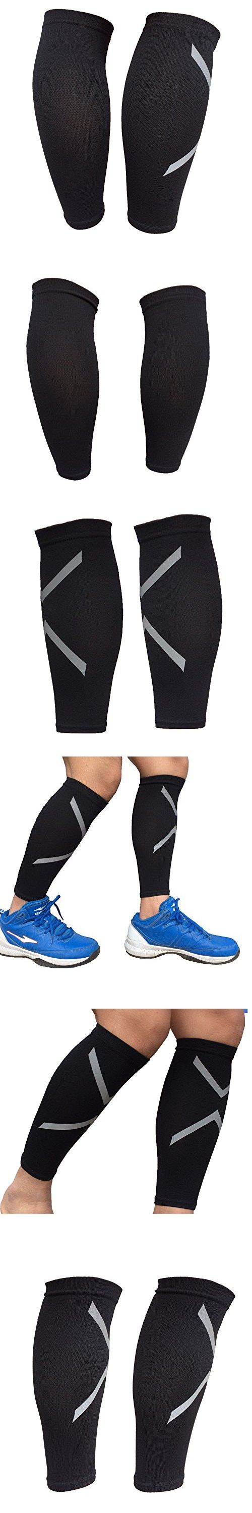 Calf Compression Sleeve, JAMIK Footless Socks Shin Splint / Leg Compression Sleeves Calves & Leg Cramps for Runners (1 Pair)