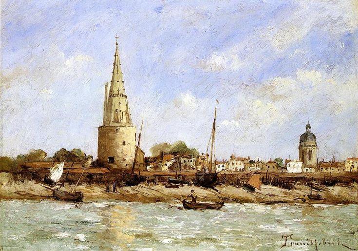 La Rochelle, huile sur toile de Paul Désiré Trouillebert (1829-1900, France)