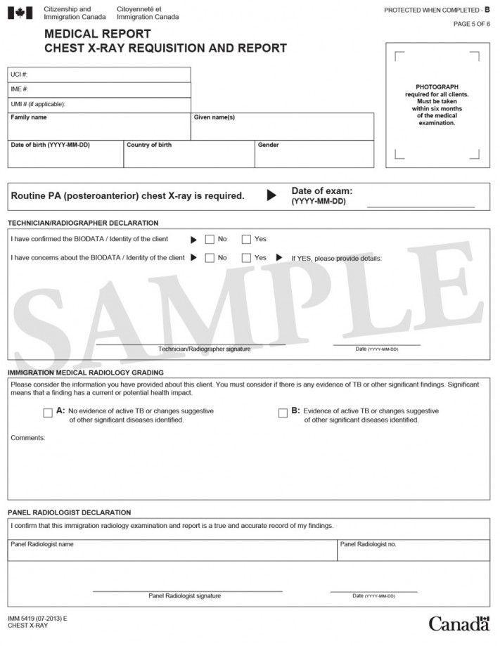 Imm 1017b Upfront Medical Report Form Inside Medical Report Form