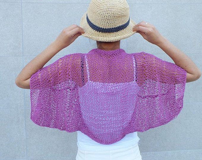 Encogimiento de hombros de suelta de encogimiento de hombros de verano punto algodón de punto shrug de verano algodón encubrir playa