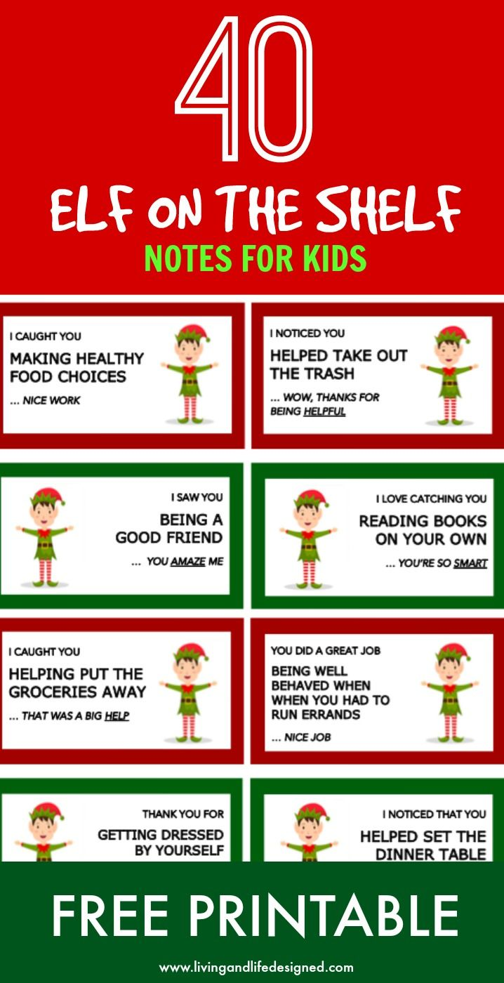 AWESOME! I love the message these elf on the shelf notes convey - reinforcing positive behavior, kindness, praising effort and hard work. These are awesome to pair with Elf on the Shelf. What an incredible idea! Please do this instead of telling your kids that the elf reports back to Santa!