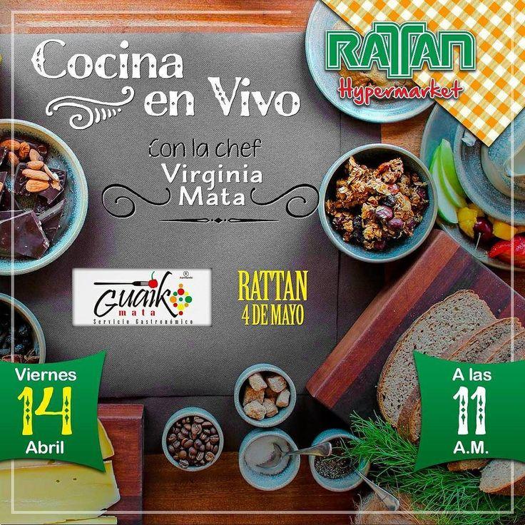 @Regrann from @rattanhyper -  Como parte de nuestras actividades para la #SemanaSanta hoy estaremos realizando #CocinaEnVivo con nuestra chef @guaikomata en la sucursal de #Rattan4DeMayo desde las 11:00 am. Quedan todos cordialmente invitados.  Te esperamos para que disfrutes de esta #CocinaEnVivo y además podrás degustar las maravillosas preparaciones de la chef Virginia Mata. #TodoEnUnMismoLugar #RattanMargarita #RattanEsMargarita