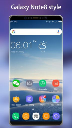 Note 8 Launcher - Galaxy Note8 launcher theme v1.7.1 [Prime]   Note 8 Launcher - Galaxy Note8 launcher theme v1.7.1 [Prime] Requirements:4.0 and up Overview:Note 8 Launcher is a Galaxy Note8 style launcher with many value-added features it may make your phone brand new like you get a Galaxy Note8 and it bring you many useful tools such as booster battery saver app lock app hide etc. Just try this amazing Galaxy Note8 launcher you will like it!  Note 8 Launcher features:  Built-in Galaxy…