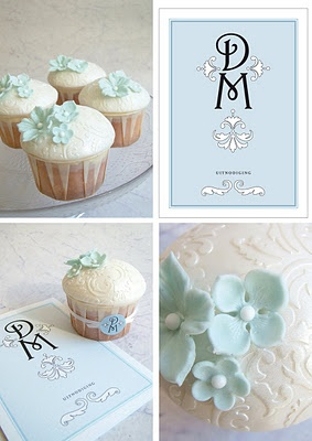 Cupcake and Sons: wedding cupcakes  Add your theme colours into your cupcakes