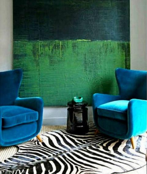 Teal Velvet Armchairs Acabado En Muros Pinterest