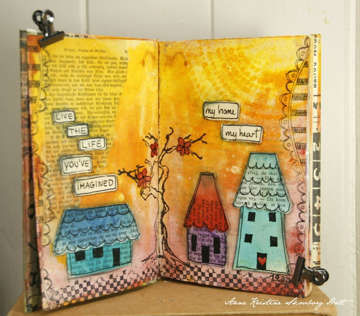 Anne's paper fun: Art Journal...takes you to more creative works