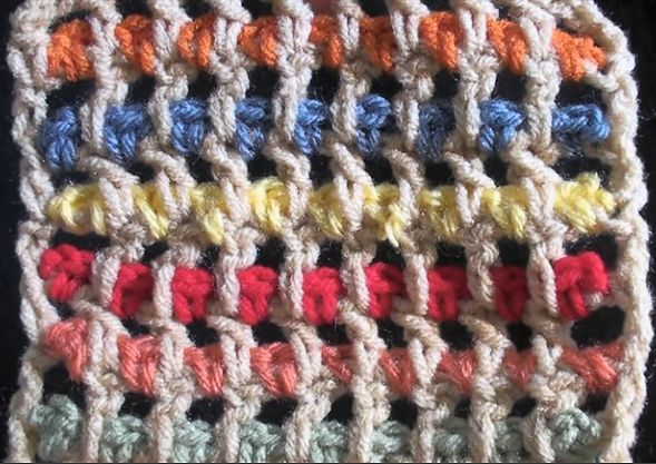 Crochet Streamer Stitch Pattern video tutorial (for squares, scarfs ...