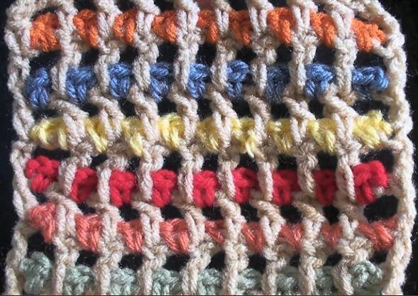 Crochet Streamer Stitch Pattern video tutorial (for squares, scarfs ...