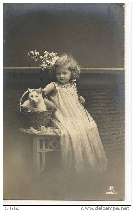 YOUNG GIRL WITH CAT, 1911