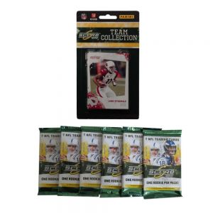 2010 Score NFL Team Set With Six Score Packs - Arizona Cardinals. This Complete Set of Arizona Cardinals Has Everyone In The 2010 Set, Giving You A Complete Selection of Cards Issued By Score.  This Set Comes With 6 Bonus 2010 Score NFL Packs of Cards. Each Pack Has 7 Random Cards of Assorted Teams.  2010 Score NFL Team Set With Six Score Packs - Arizona CardinalsSport Theme: FootballLeague: NFLTeam: Arizona Cardinals