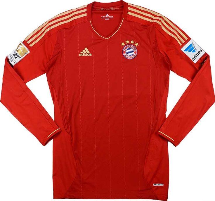 2012-13 Bayern Munich Techfit Player Issue Home L/S Shirt XL/XXL