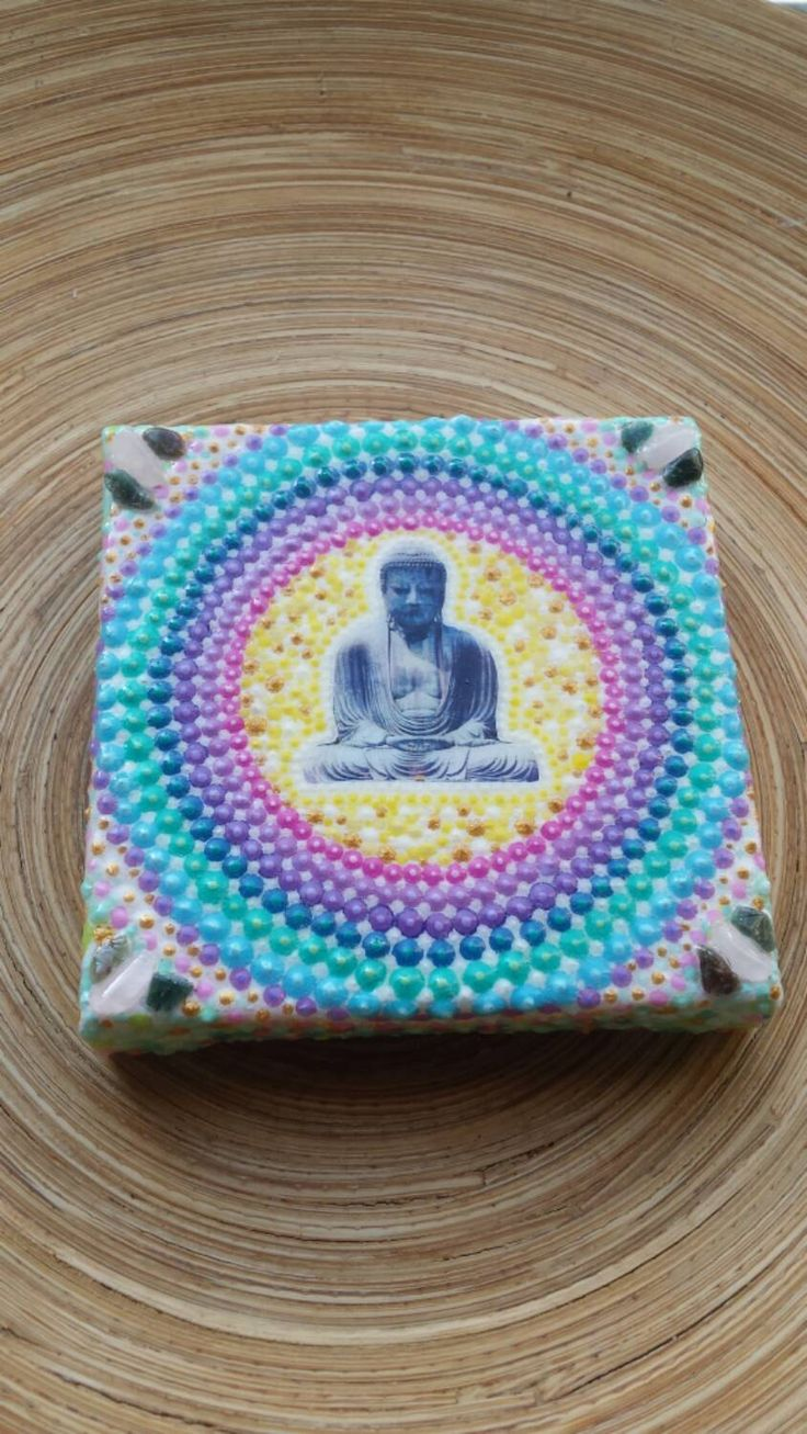 Buddha painting gift for her, Decoration for the home, alter piece, meditation tool by ArtsOfAnanda on Etsy