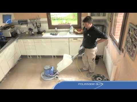 Rénovation d'un sol en pierre poreuse - YouTube