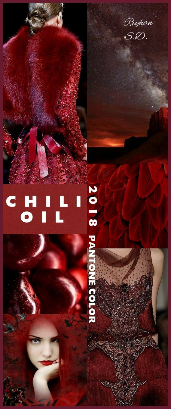 """ Chili Oil – 2018 Pantone Color "" by Reyhan S.D – tania fretes"