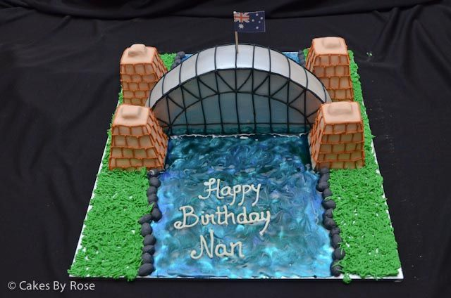 Sydney Harbour bridge cake