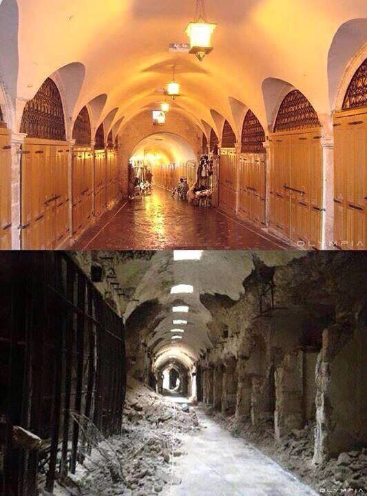 The shops in Aleppo/ before and after the war