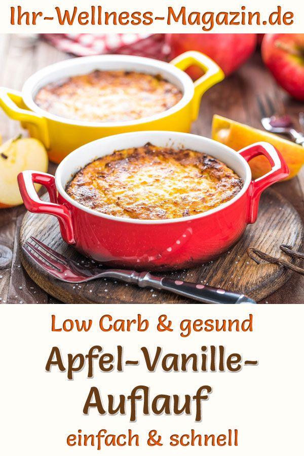 Low Carb Apfel-Vanille-Quark-Auflauf – gesundes Rezept fürs Frühstück